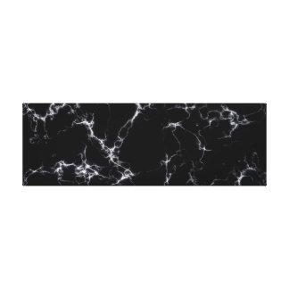 Elegant Marble style4 - Black and White Canvas Print