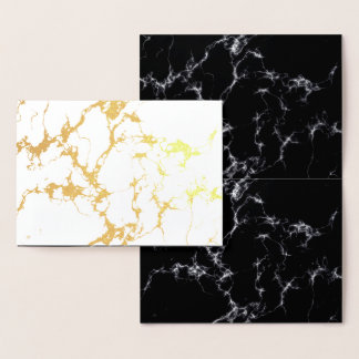Elegant Marble style4 - Black and White Foil Card