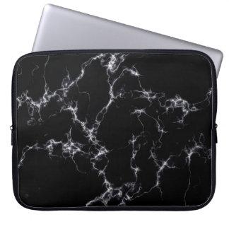 Elegant Marble style4 - Black and White Laptop Sleeve