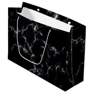Elegant Marble style4 - Black and White Large Gift Bag