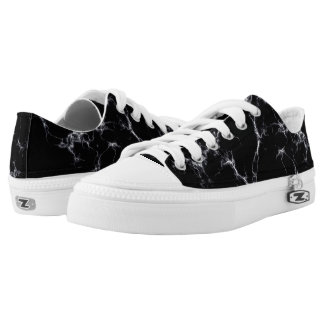 Elegant Marble style4 - Black and White Low-Top Sneakers