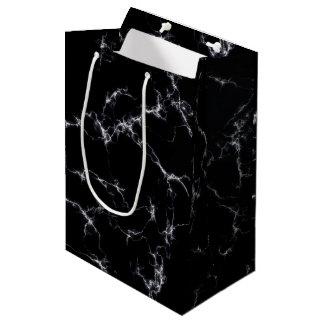 Elegant Marble style4 - Black and White Medium Gift Bag