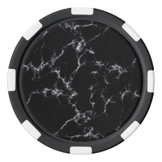 Elegant Marble style4 - Black and White Poker Chips