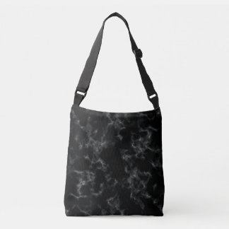 Elegant Marble style - black Crossbody Bag