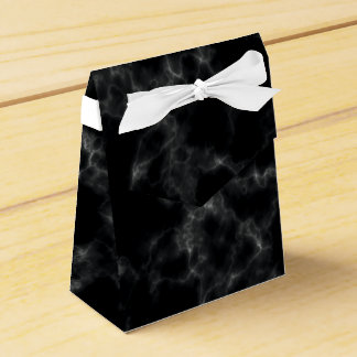 Elegant Marble style - black Favor Box