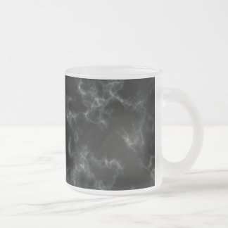 Elegant Marble style - black Frosted Glass Coffee Mug