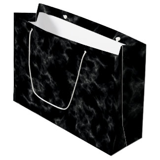 Elegant Marble style - black Large Gift Bag