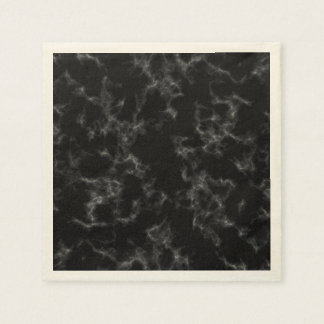 Elegant Marble style - black Paper Napkin