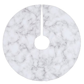 Elegant Marble style Brushed Polyester Tree Skirt