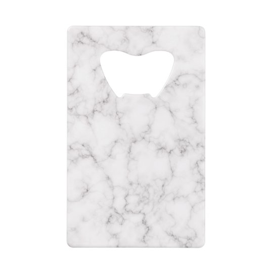 Elegant Marble style Credit Card Bottle Opener