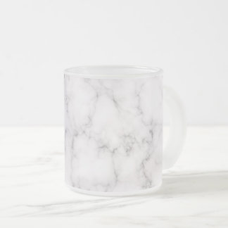 Elegant Marble style Frosted Glass Coffee Mug