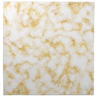 Elegant Marble style - Gold White Napkin
