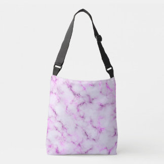 Elegant Marble style - purple pink Crossbody Bag