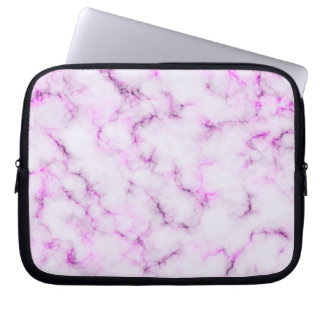 Elegant Marble style - purple pink Laptop Sleeve