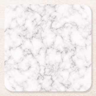 Elegant Marble style Square Paper Coaster