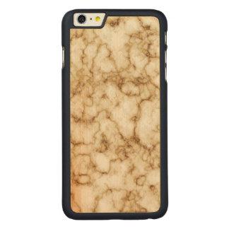 Elegant Marble Texture Carved Maple iPhone 6 Plus Case