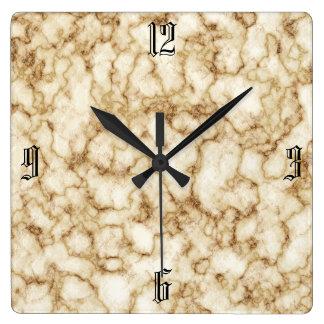 Elegant Marble Texture Wallclock