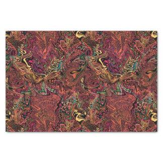 Elegant marbled tissue paper, warm autumn swirls tissue paper