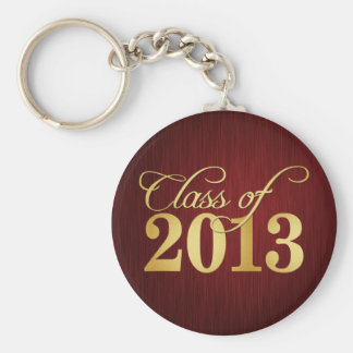 Elegant Maroon vignette and Gold Class of 2013 Keychain