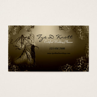 Elegant Married Couple Wedding Planner Business Card