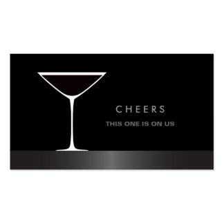 Elegant martini cocktail glass drink voucher business card