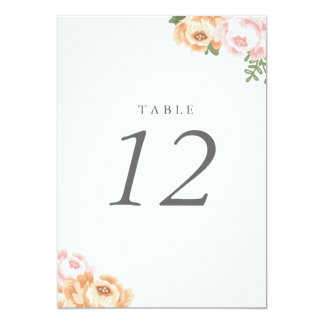 Wedding table number cards