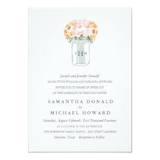 Elegant Mason Jar Wedding Invitations