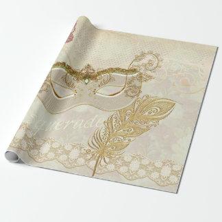 Elegant Masquerade Wrapping Paper
