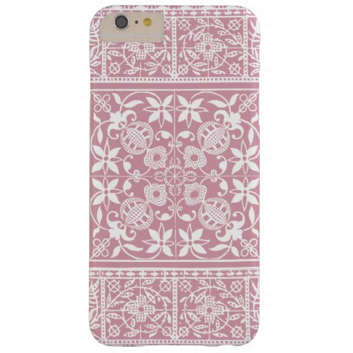 Elegant Medieval French Lace Pink and White Barely There iPhone 6 Plus Case