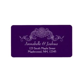 Elegant Mehndi design wedding address labels