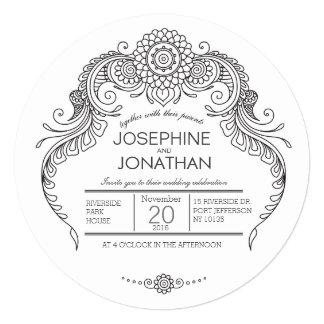 Elegant Mehndi Design wedding invitation