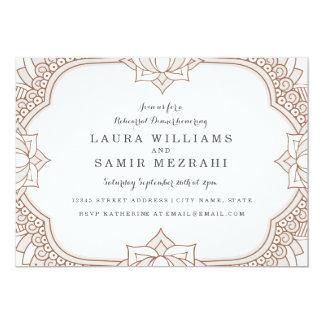 "Elegant Mehndi Rehearsal Dinner 5"" X 7"" Invitation Card"