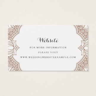 Elegant Mehndi Website Cards