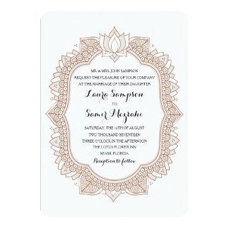 """Elegant Mehndi Wedding 5"""" X 7"""" Invitation Card"""