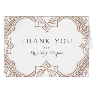 Elegant Mehndi Wedding Note Card