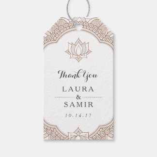 Elegant Mehndi Wedding Pack Of Gift Tags