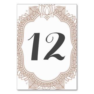 Elegant Mehndi Wedding Table Cards