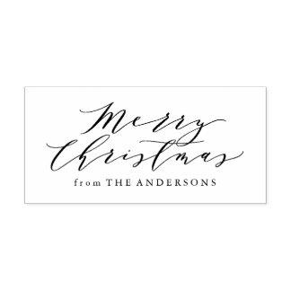Elegant Merry Christmas | Return Address Stamp