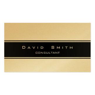 Elegant metal golden gold modern professional business card