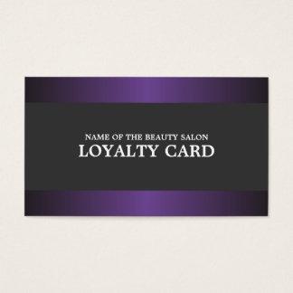 Elegant Metal Purple Grey Salon Loyalty Card