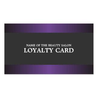 Elegant Metal Purple Grey Salon Loyalty Card Pack Of Standard Business Cards