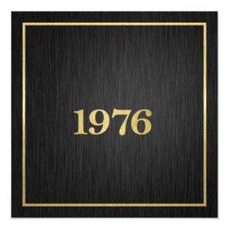 Elegant Metallic Gold 1976 Card