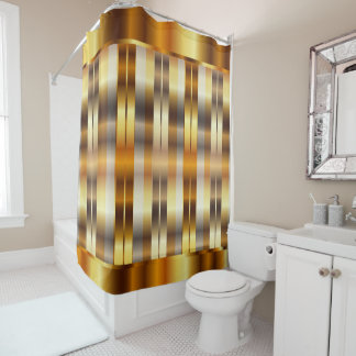 Elegant Metallic Gold Stripes