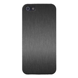 Elegant Metallic Gray Brushed Aluminum Look 2 iPhone 5/5S Case