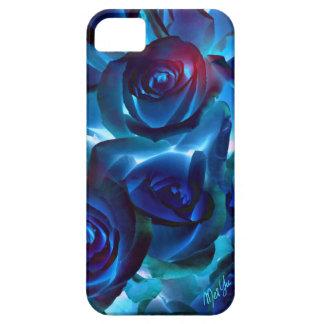Elegant Midnight Roses iPhone SE + 5/5S Slim Case
