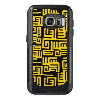 Elegant Minimal African Tribal Pattern Yellow Line OtterBox Samsung Galaxy S7 Case