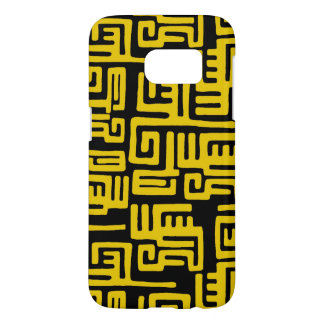 Elegant Minimal African Tribal Pattern Yellow Line Samsung Galaxy S7 Case