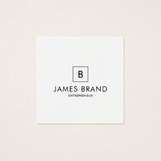 Elegant Minimal Monogram Square Business Card