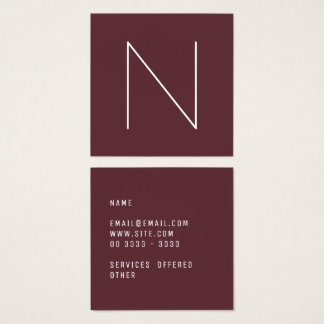 Elegant Minimal Plain Tawny Port Square Business Card