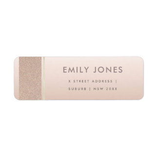 ELEGANT MINIMAL ROSE GOLD SHIMMER ADDRESS